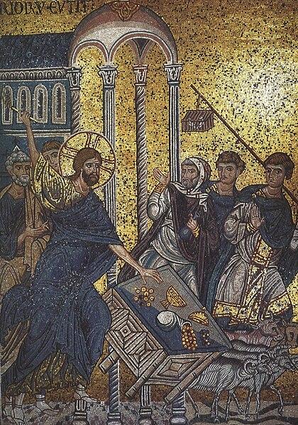 File:Christ banish tradesmen from Temple (Monreale).jpg
