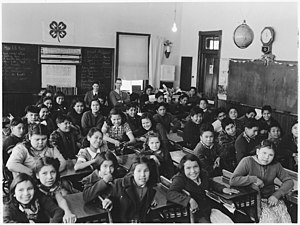 Classroom with students and teachers - NARA - ...