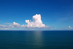 Clouds over the Atlantic Ocean. Salvador, Bahi...