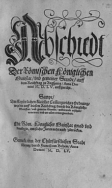 Front page of the document