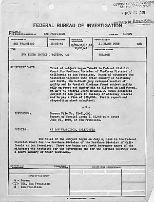 FBI synopsis of trial
