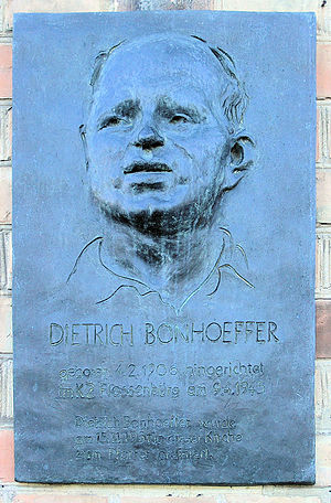 Memorial plaque, Dietrich Bonhoeffer, Matthäik...