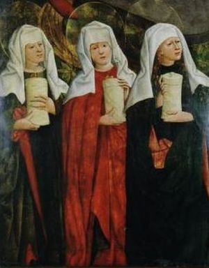 Three Marys at the Tomb.