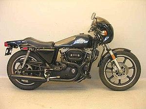English: 1977 Harley-Davidson XLCR. Frysk: Har...