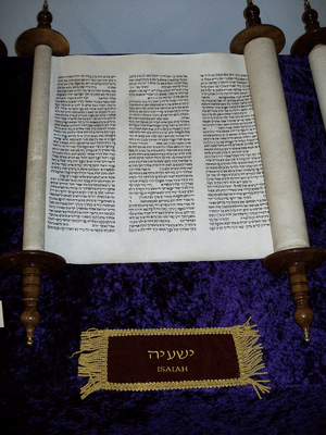 A scroll of the Book of Isaiah