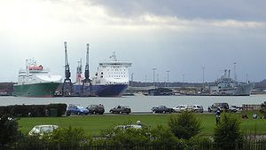 Marchwood Military Port from Southampton. In p...