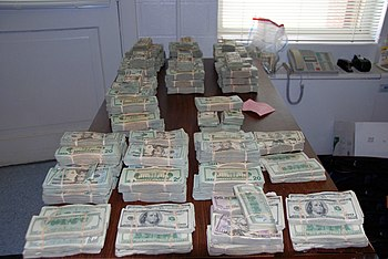 "English: Money seized during ""Project Cor..."