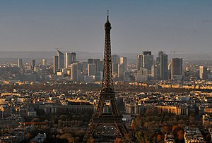 The Eiffel Tower and La Défense business distr...