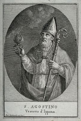 Saint Augustine of Hippo. Engraving. Wellcome V0031643.jpg