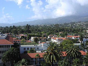 Santa Barbara from Courthouse tower Photograph...
