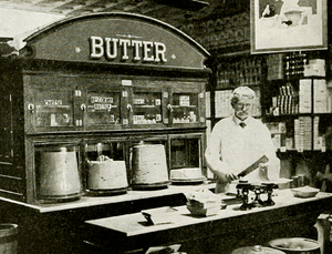 In some markets a great deal of butter is reta...