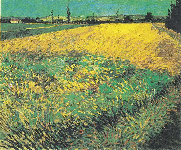 File:Van Gogh - Weizenfeld mit Hügeln der Alpilles im Hintergrund.jpeg