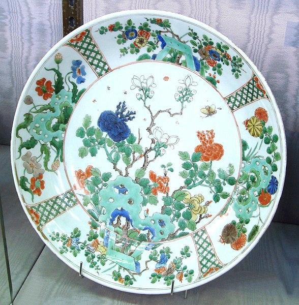 File:Wucai plate for exportation Kangxi period circa 1680.jpg