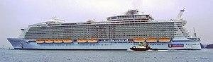 English: MS Allure of the Seas leaving STX shi...