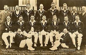 Official photo of 1930 Australian cricket team...