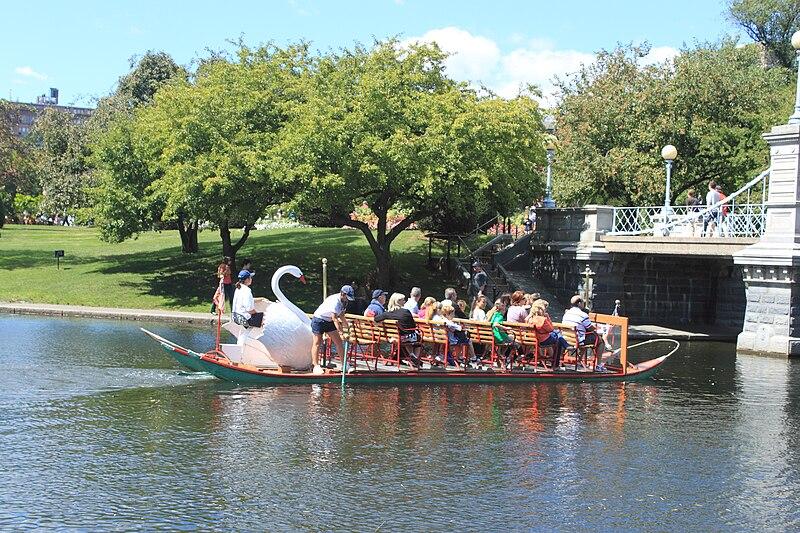 File:Boston Swan Boat Lagoon Bridge.jpg