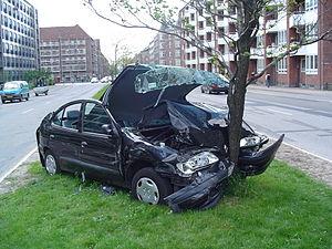 Deutsch: Ein Straßenverkehrsunfall in Kopenhag...