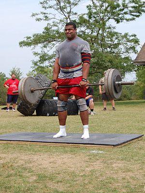 Strongmen event: the Deadlift (phase 3).