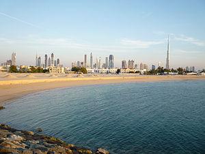 View of Dubai just before sunset.