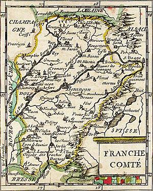 Map of Franche-Comté