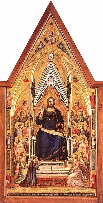 The Stefaneschi Triptych: Christ Enthroned