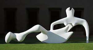 Henry Moore, Reclining Figure, 1951, Fitzwilliam Museum, Cambridge (Photo credit: Wikipedia)