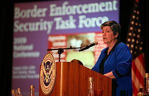 Secretary of Homeland Security Janet Napolitan...
