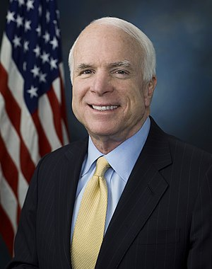 English: John McCain official photo portrait.