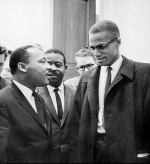 Martin Luther King, Jr. and Malcolm X meet bef...