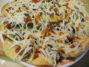 A photo of nachos