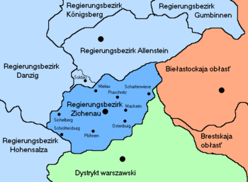 Region of Ciechanów during nazi occupation of ...