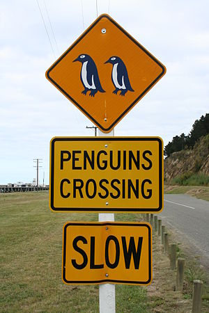 English: Funny Road Sign from New Zealand, &qu...