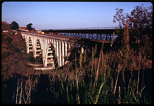 Bridge on Highway 101 in Santa Barbara County,...