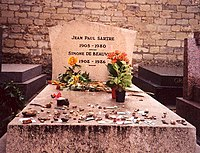Tombe de Jean-Paul Sartre et Simone de Beauvoir