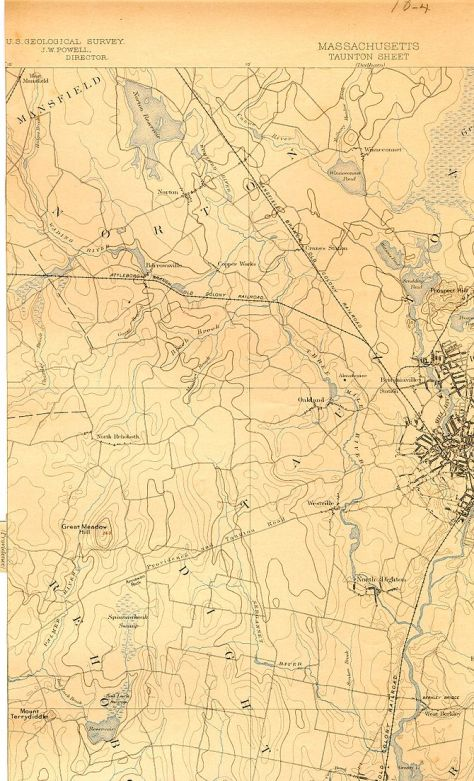 Map of Three Mile River (Massachusetts) and en...
