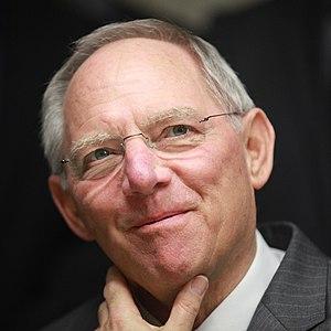 Deutsch: Wolfgang Schäuble, Bundesfinanzminist...