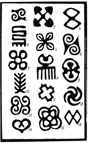 Out Of Africa Swastika Symbols Of Power Adinkras Fractals