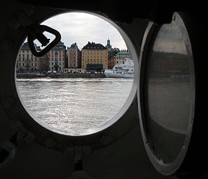 Stockholm seen from window of af Chapman.