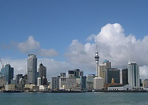 Auckland New Zealand, Skyline from Harbour