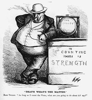 Caricature of Boss Tweed by Thomas Nast.