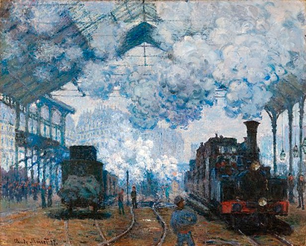 Claude Monet - The Gare Saint-Lazare, Arrival of a Train