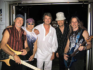 Deep Purple in 2004. From left to right: Roger...