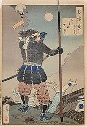 Stampa che illustra il periodo Sengoku
