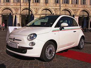 Fiat 500 presentation in Turin