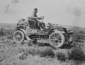 Horatio Nelson Jackson in his 2-seat Winton to...