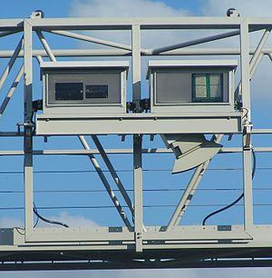 LKW Maut Deutschland Messbruecke Detail
