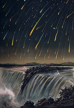 Leonid Meteor Strom, as seen over North Americ...
