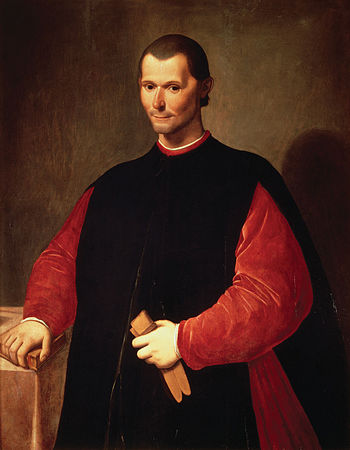 Famous posthumous portrait of Niccolò Machiave...