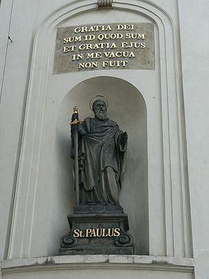 St. Paul's statue on the Holy Cross Chapel, Pr...