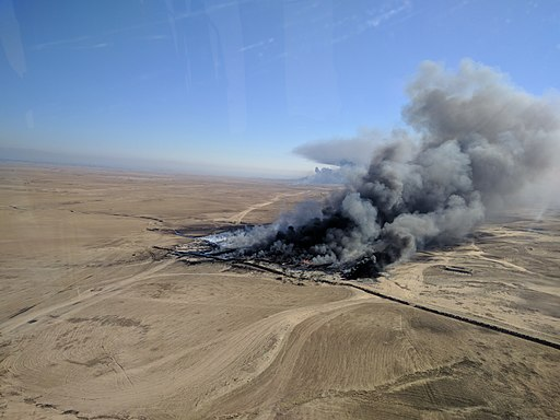 Qayyarah Oil Field Fires